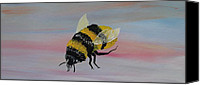 Silver Moonlight Sculpture Canvas Prints - Bumble Bee Canvas Print by Mark Moore