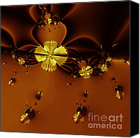 Bumblebees Canvas Prints - Bumble Beez Over Chocolate Lake . Square . S19 Canvas Print by Wingsdomain Art and Photography