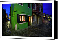 Photographs Digital Art Canvas Prints - Burano II - Italy Canvas Print by Marco Hietberg