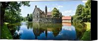 House Photo Canvas Prints - Burg Vischering Canvas Print by David Bowman