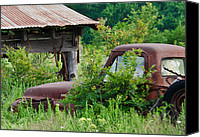 Old Trucks Canvas Prints - Buried in Time Canvas Print by Lisa Moore