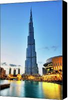 Building Canvas Prints - Burj Khalifa Sunset Canvas Print by Shawn Everhart