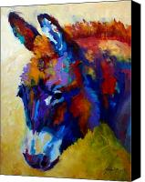 Animals Painting Canvas Prints - Burro II Canvas Print by Marion Rose