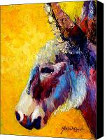 Donkey Canvas Prints - Burro Study II Canvas Print by Marion Rose