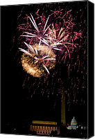 4th July Canvas Prints - Bursts over Washington Canvas Print by David Hahn