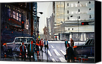 Ryan Radke Canvas Prints - Busy City - Chicago Canvas Print by Ryan Radke