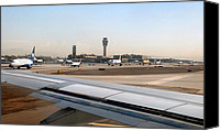Lined Up Canvas Prints - Busy day at Sky Harbor Canvas Print by David Lee Thompson