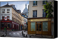 City Streets Canvas Prints - Butte de Montmartre Canvas Print by Inge Johnsson