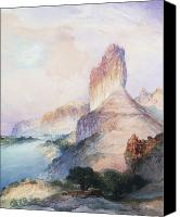 Thomas Moran Canvas Prints - Butte Green River Wyoming Canvas Print by Thomas Moran