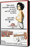 1960 Movies Canvas Prints - Butterfield 8, Elizabeth Taylor, 1960 Canvas Print by Everett