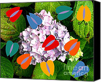Insects Mixed Media Canvas Prints - Butterflies After The Rain Canvas Print by Patrick J Murphy