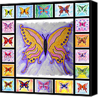Mark Schutter Canvas Prints - Butterfly Collage Canvas Print by Mark Schutter