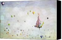 Balloon Fiesta Canvas Prints - Butterfly Dreams Canvas Print by Andrea Hazel Ihlefeld