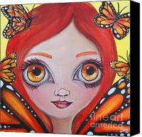 Jasmine Painting Canvas Prints - Butterfly Fairy Canvas Print by Jaz Higgins