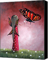 Fantasy Painting Canvas Prints - Butterfly Whisperer by Shawna Erback Canvas Print by Shawna Erback