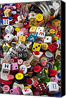 Cube Canvas Prints - Buttons and Dice Canvas Print by Garry Gay