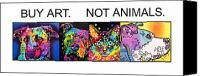 Animal Painting Canvas Prints - Buy Art Not Animals Canvas Print by Dean Russo