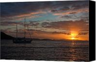 Virgin Canvas Prints - BVI Sunset Canvas Print by Adam Romanowicz