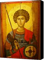 Byzantine Photo Canvas Prints - Byzantine Knight Canvas Print by Ellen Henneke