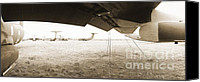 Regeneration Photo Canvas Prints - C-141 Starlifter Wing Canvas Print by Jan Faul