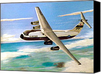 Air Plane Drawings Canvas Prints - C-141b Canvas Print by Mickael Bruce