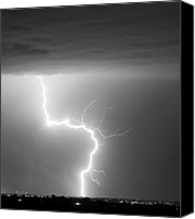 "\""striking Photography\\\"" Canvas Prints - C2G Lightning Strike in Black and White Canvas Print by James Bo Insogna"