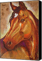 Handmade Paper Canvas Prints - Caballo I I Canvas Print by Juan Jose Espinoza