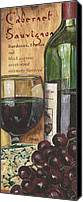 Bar Canvas Prints - Cabernet Sauvignon Canvas Print by Debbie DeWitt