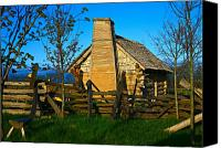 Colorado Artwork Canvas Prints - Cabin Fever Canvas Print by Robert Pearson