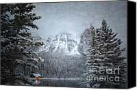 Log Cabin Art Canvas Prints - Cabin Thicket Canvas Print by Andrea Hazel Ihlefeld
