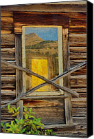 Cabin Window Canvas Prints - Cabin Windows Canvas Print by Jeff Kolker
