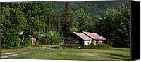 Wiseman Alaska Canvas Prints - Cabins - Wiseman Canvas Print by Gary Rose