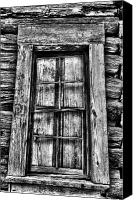 Cabin Window Canvas Prints - Cabins Window Canvas Print by Greg Sharpe