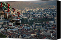 Eye Ball Canvas Prints - Cable car in Grenoble  Canvas Print by Dany Lison Photography