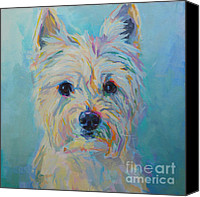 Pet Portrait Canvas Prints - Caddie Canvas Print by Kimberly Santini