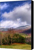 Fall Scenes Canvas Prints - Cades Cove First Dusting of Snow II Canvas Print by Debra and Dave Vanderlaan