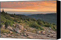 Acadia Canvas Prints - Cadillac Mountain Evening Canvas Print by Stephen  Vecchiotti