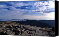 Acadia Canvas Prints - Cadillac Mountain Canvas Print by Skip Willits