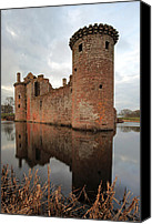 Ruin Canvas Prints - Caelaverock Castle Canvas Print by Grant Glendinning