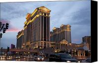 Gambling Canvas Prints - Caesars Palace  Canvas Print by Jane Rix
