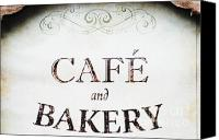 Family Room Canvas Prints - Cafe and Bakery Sign Canvas Print by AdSpice Studios