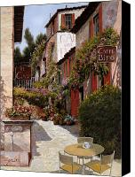 Wall Painting Canvas Prints - Cafe Bifo Canvas Print by Guido Borelli