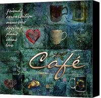 Friends Canvas Prints - Cafe Canvas Print by Evie Cook