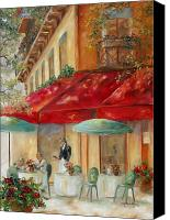 Corner Cafe Canvas Prints - Cafe Paris Canvas Print by Chris Brandley