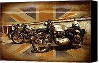 Bsa Canvas Prints - Cafe Racers Canvas Print by Brian Middleton