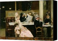 Sat Canvas Prints - Cafe Scene in Paris Canvas Print by Henri Gervex