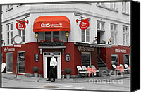 Corner Cafe Canvas Prints - Cafe Sorgenfri Canvas Print by Sophie Vigneault
