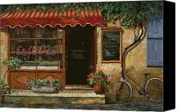 Wall Painting Canvas Prints - caffe Re Canvas Print by Guido Borelli