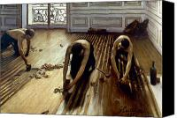 1875 Canvas Prints - Caillebotte: Planers, 1875 Canvas Print by Granger