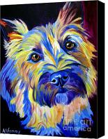 Dog Art Canvas Prints - Cairn - Neiman Canvas Print by Alicia VanNoy Call
